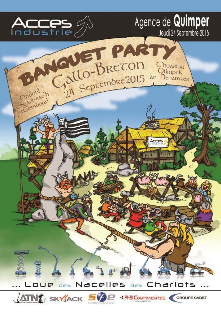 "A venir: ""Banquet party"" à l'agence de Quimper !"