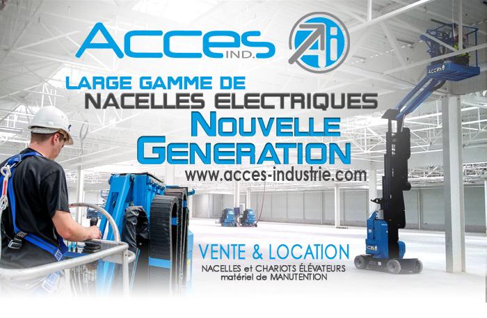 De nouvelles nacelles électriques dernière génération étoffent le parc d'Acces Industrie