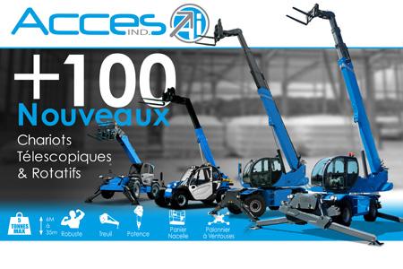 + 100 nouveaux chariots télescopiques pour Accès Industrie
