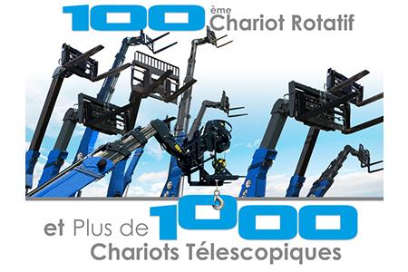 Arrivée du 100ème chariot rotatif