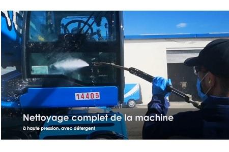 Désinfection complète de nos machines