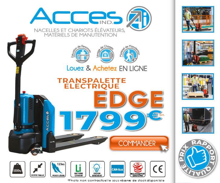 Nouveau transpalette électrique EDGE